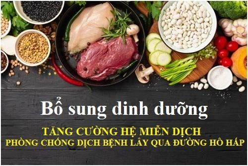 Bổ sung dinh dưỡng tăng cường hệ miễn dịch phòng chống bệnh lây nhiễm qua đường hô hấp