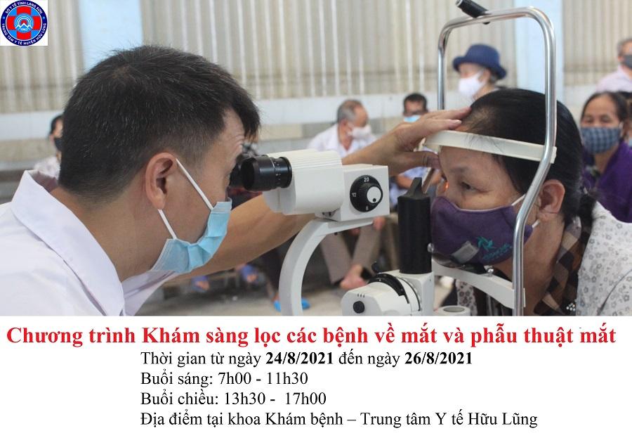Trung tâm Y tế Hữu Lũng triển khai chương trình khám sàng lọc các bệnh về mắt